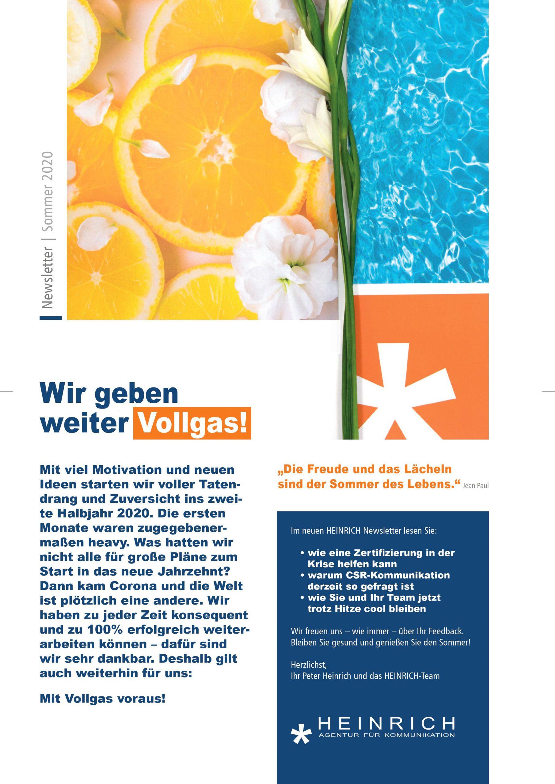 HEINRICH_Newsletter_Sommer-2020_Titel
