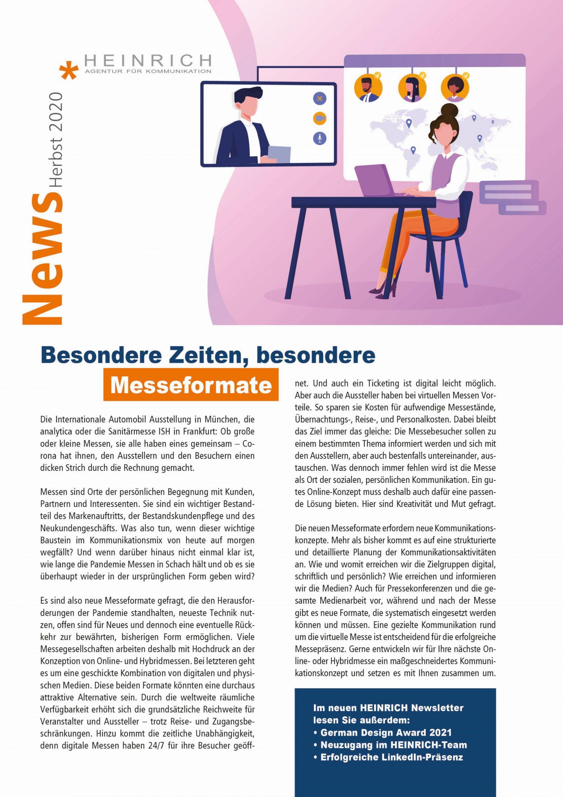 HEINRICH_Newsletter_Herbst-2020_Titel